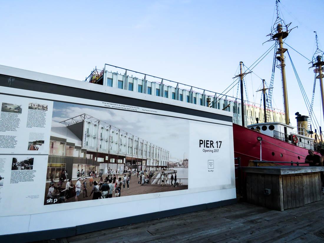 Pier 17 ska stå färdigrenoverad 2017.