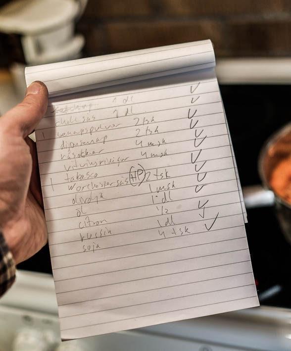 Recept BBQ-sås. Foto: Erik Bergin