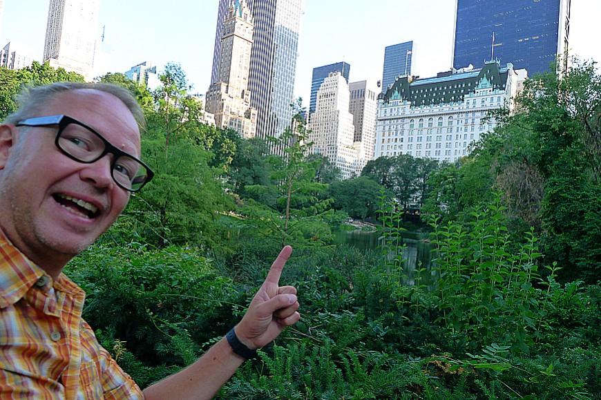 Erik i Central Park.