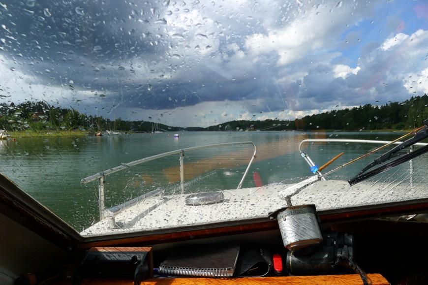 Sista resan – med regn – sommaren 2014.