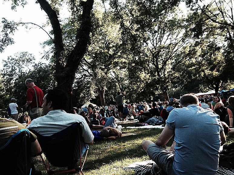 Charlie Parker Jazz Festival i Tompkins Square Park, East Village, i söndags.