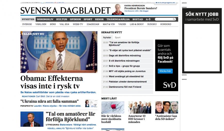 Uppdaterad med Obama på förstasidan.