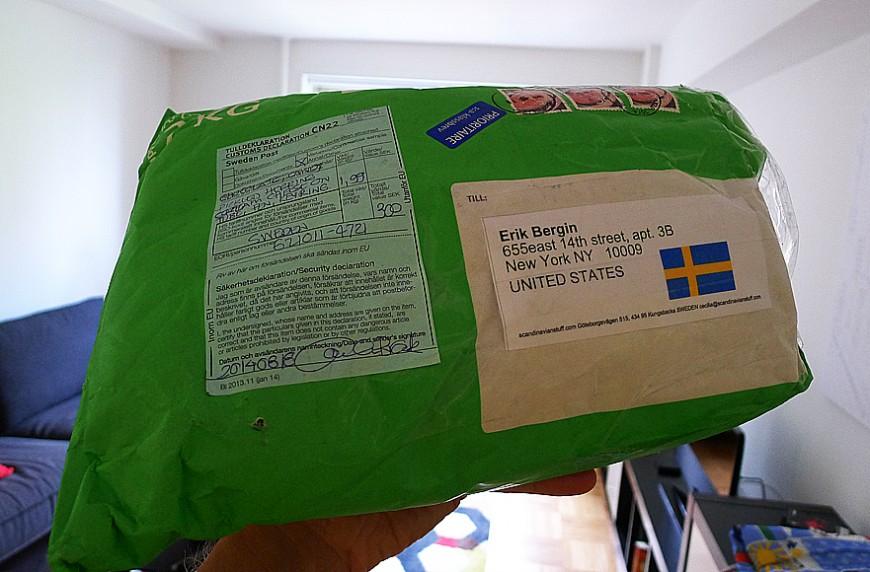 Paketet med räkosten.