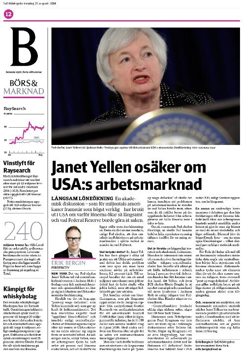 Så här såg sidan på Börs & marknad ut.