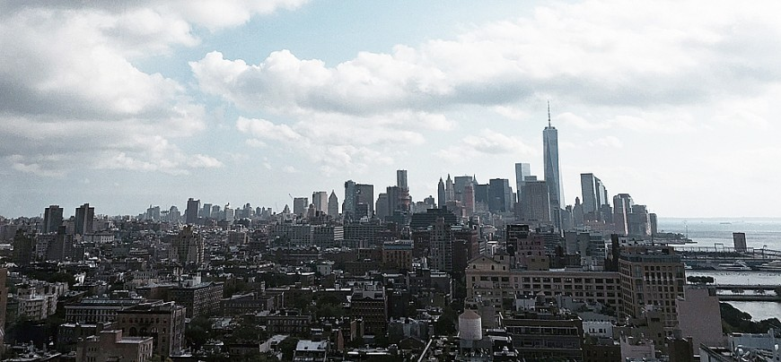 Manhattan-utsikt söderöver  från The Standard Rooftop Bar. Foto: Erik Bergin