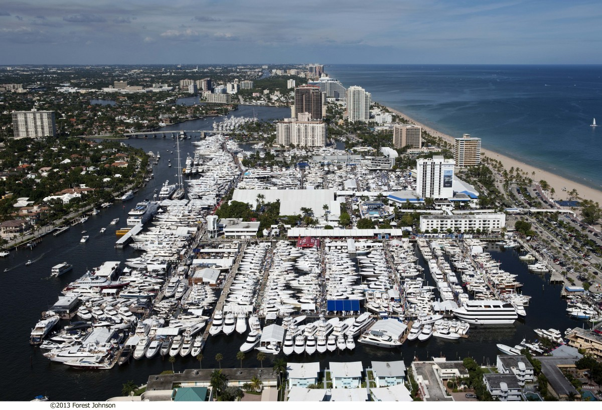 Vy över en del av förra årets Fort Lauderdale International Boat Show. Foto: Forest Johnson