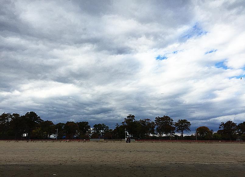 Stranden vid Pelham Bay (se karta).