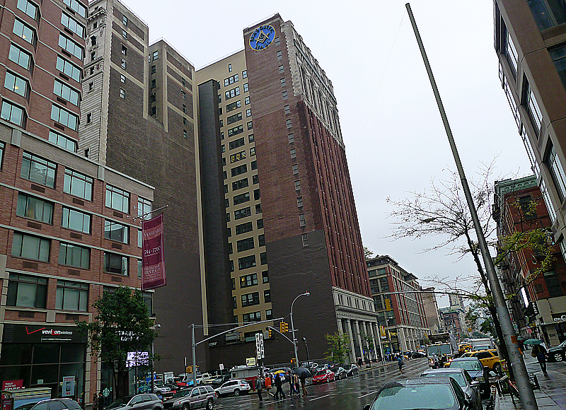 The Grand Masonic Lodge på 71 West 23rd Street, Manhattan.