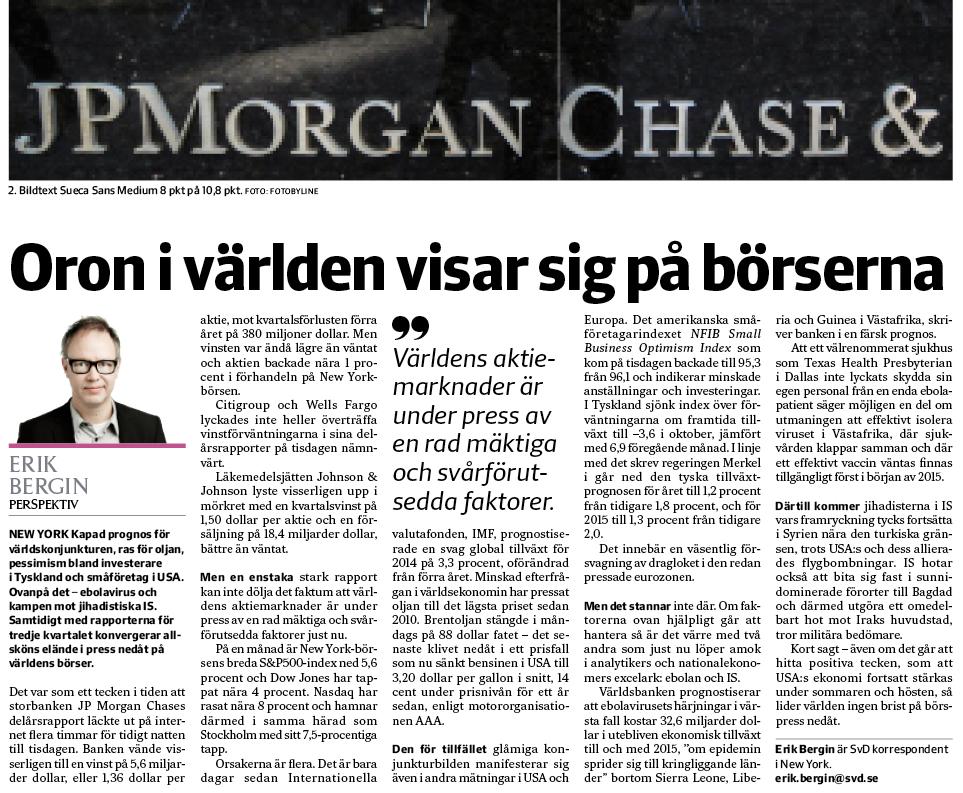 Perspektivet i onsdagens SvD Näringsliv.