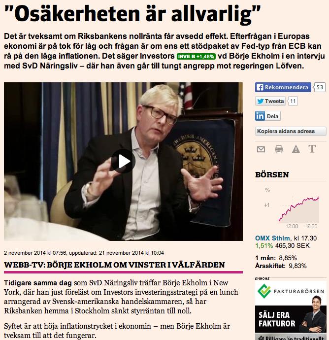 Börje Ekholm-intervjun på webben.
