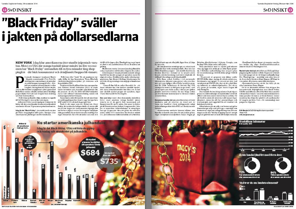 Black Friday-artikeln i SvD Näringsliv den 28 november.