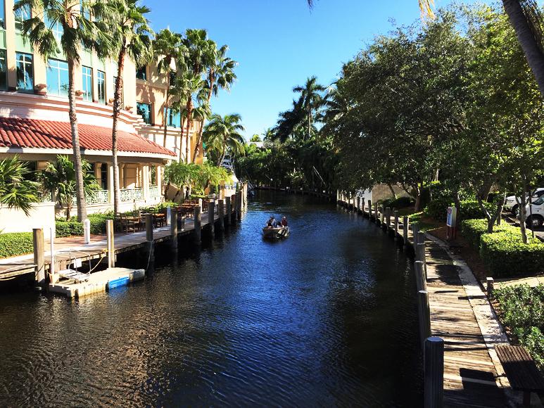 En av Fort Lauderdales kanaler.