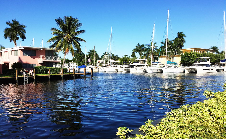 Det goda livet – fina villor, vatten och båtar i centrala Fort Lauderdale.