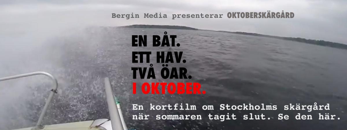 """Bergin Medias """"Oktoberskärgård""""."""