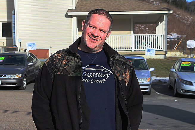Chip Wilkin på Crossway Saab i Montpelier, Vermont.