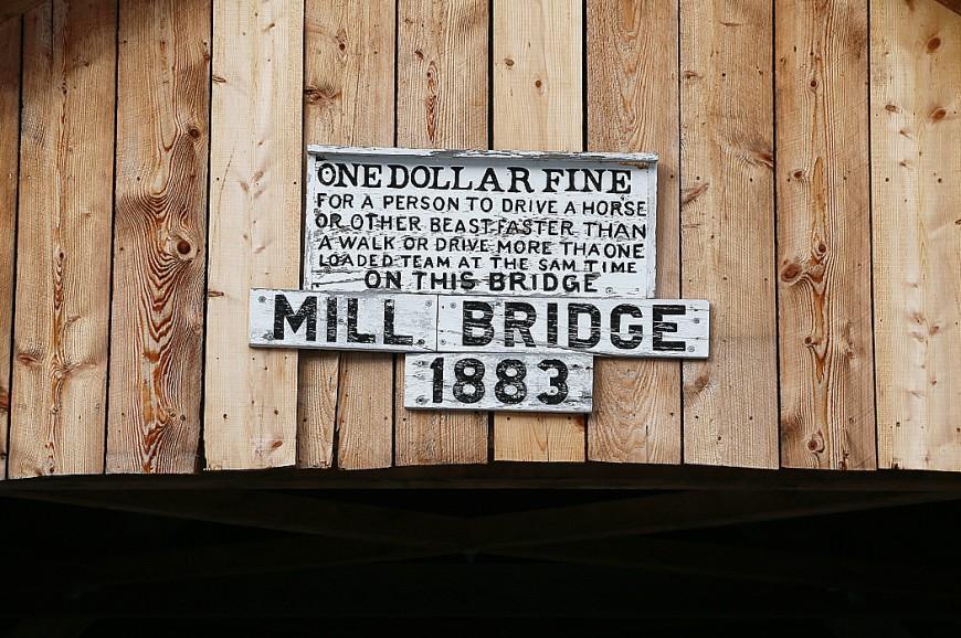 Flera av broarna i området är byggda 1883.