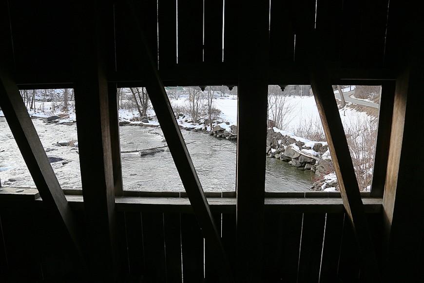 Ännu en övertäckt bro i Tunbridge, Vermont.