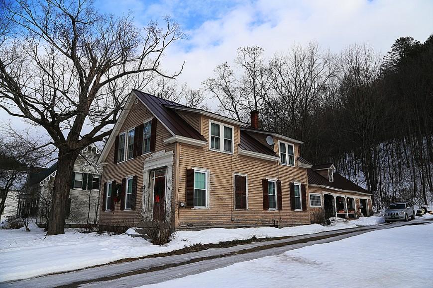Tunbridge, Vermont. Huset är från sent 1800-tal.