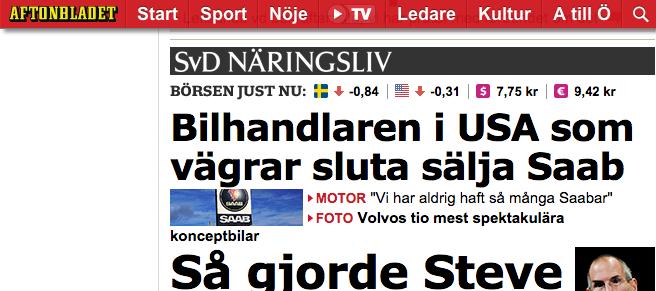 Puffen till Saab-artikeln på Aftonbladet.