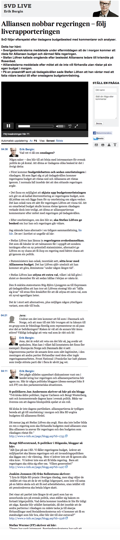 En del av SvD:s politikblogg om regeringskrisen den 2-3 december 2014.