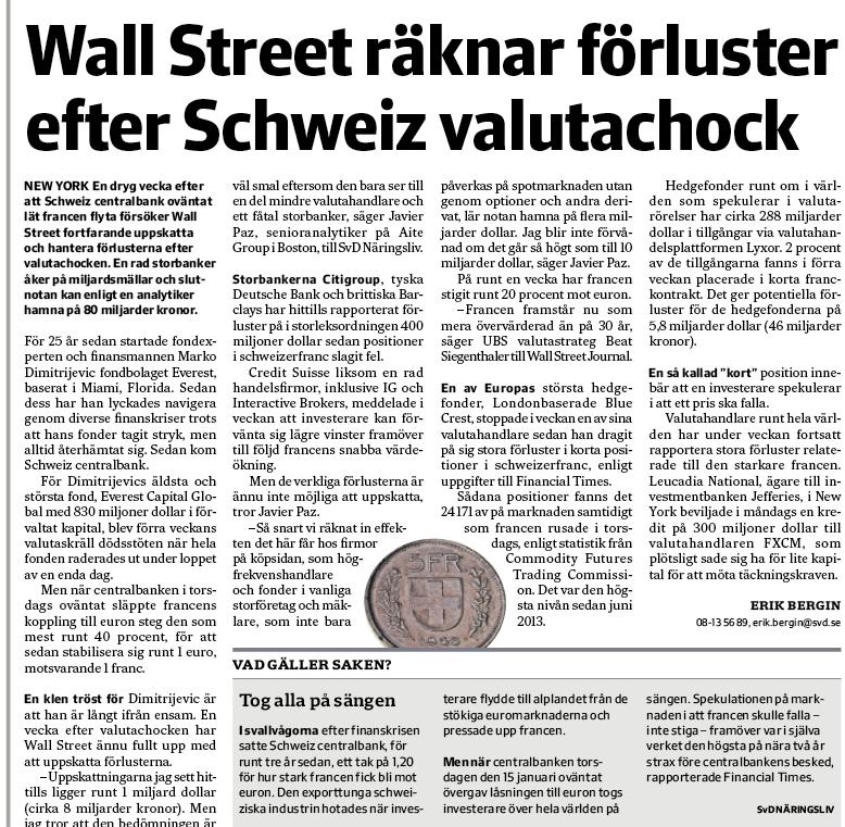 Artikeln i SvD Näringsliv. Klicka för större version.