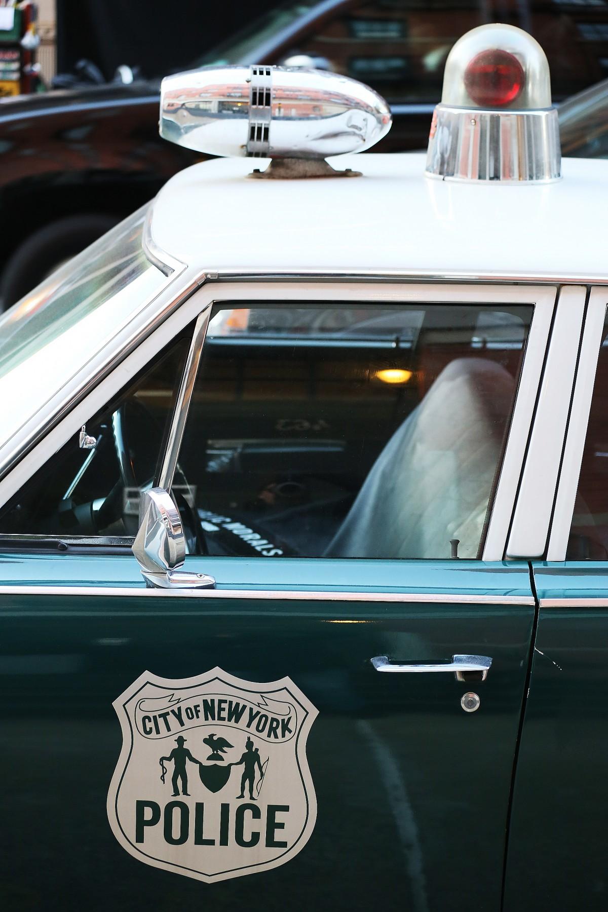 En sedan länge pensionerad New York-polisbil.