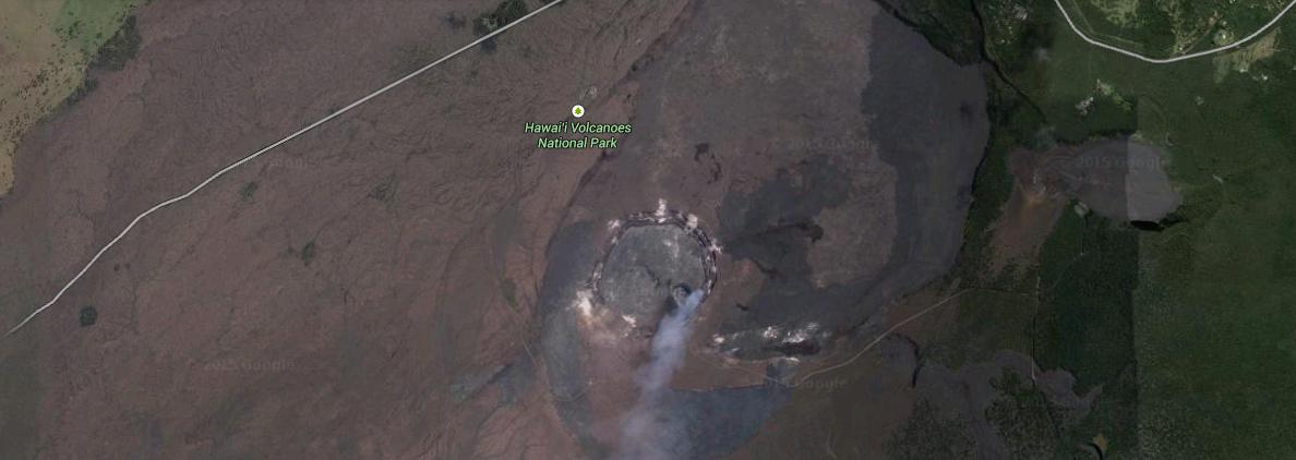 Så här ser kratern ut från satellit.