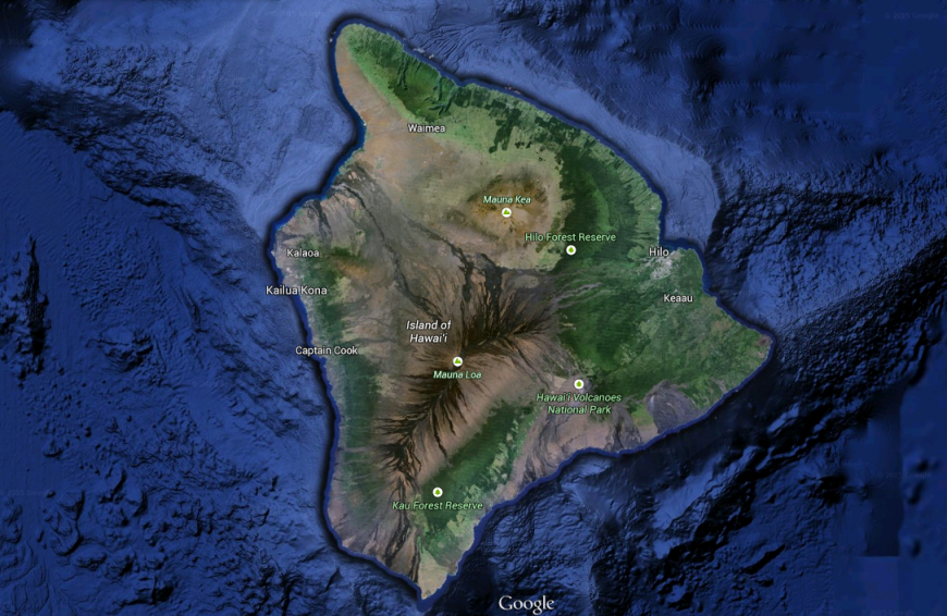 "Ön Hawaii, the ""Big Island""."