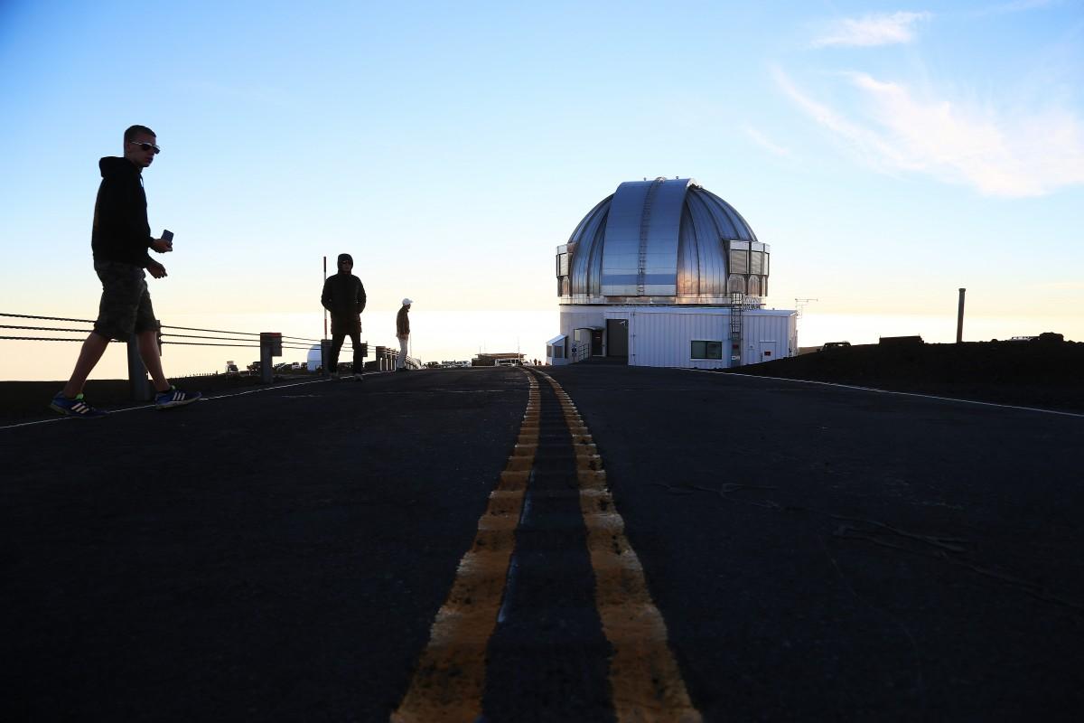 Observatorierna på Mauna Kea.