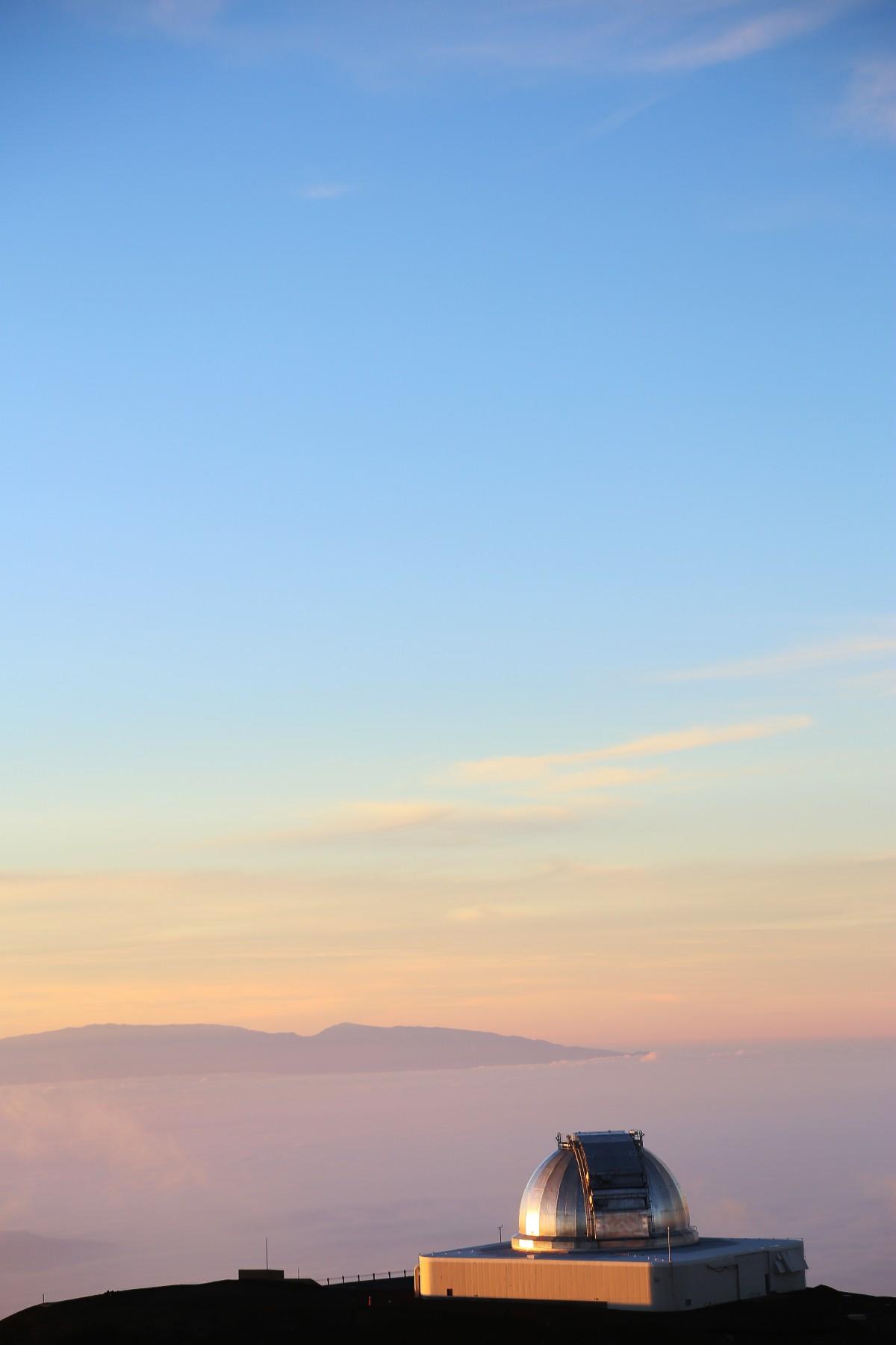 Ett av observatorierna på Mauna Keas topp.