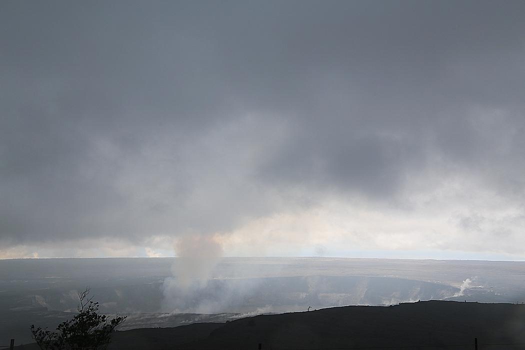 Kahaualea-kratern i dagsljus.