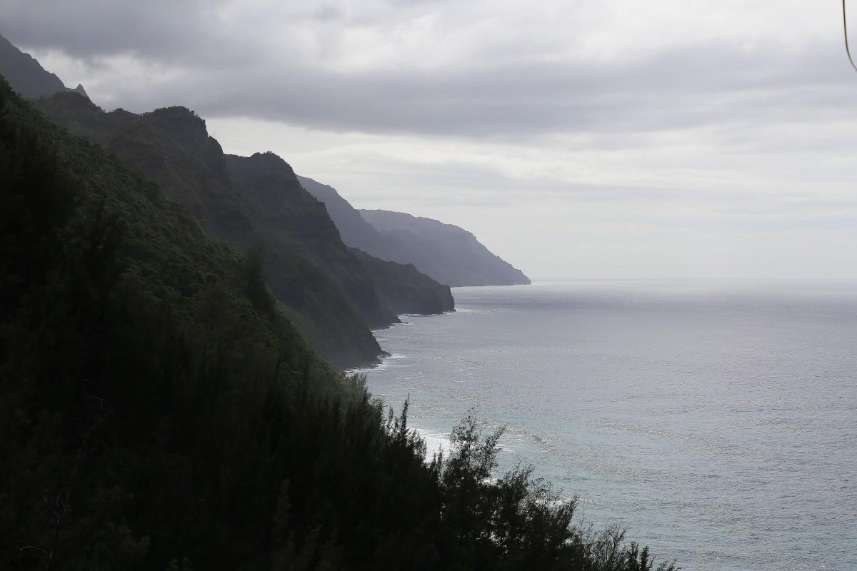 Napali-kusten längs norra Kauai-ön.