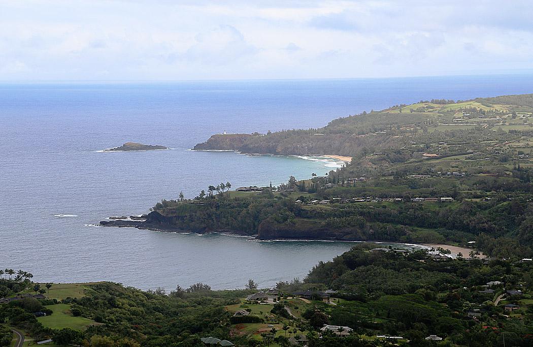 En kustparti av Kauai, Hawaii.