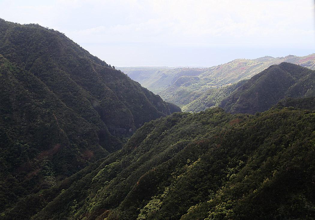 Gröna bergssidor vart man vänder blicken.