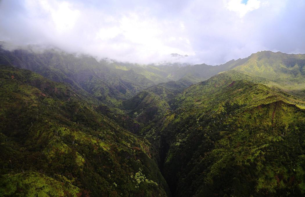Det gröna Kauai, Hawaii.