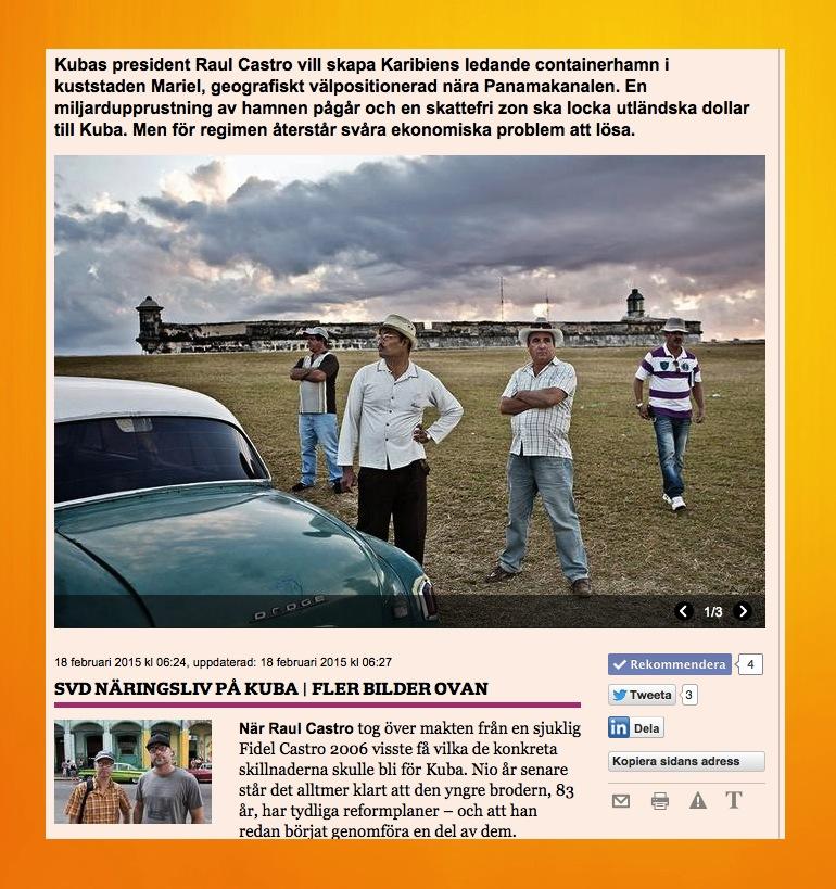 Artikeln om Castros ekonomiska reformer.