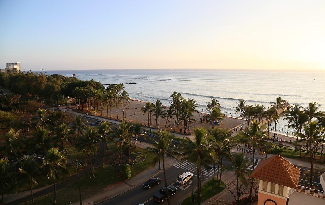 Södra delen av Waikiki Beach, Honolulu.
