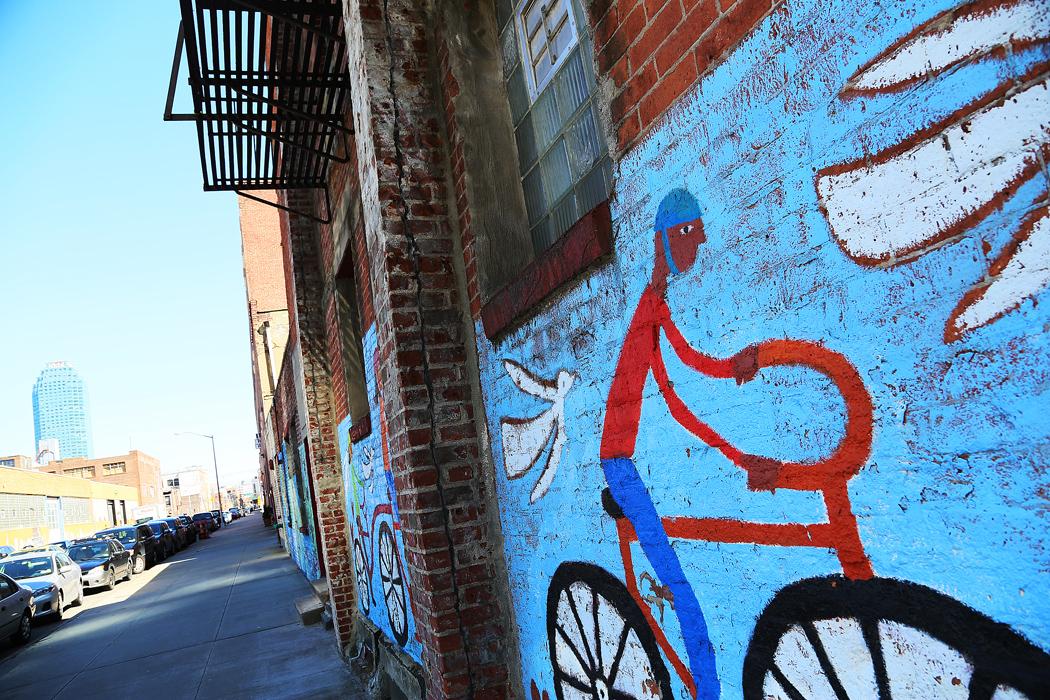 En målning på bryggeriväggen. Foto: Erik Bergin