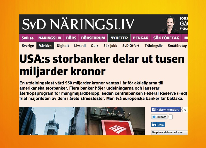 Artikeln om storbankerna.