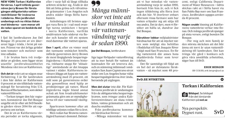 Artikeln i SvD söndag den 19 april 2015. Klicka för större version.