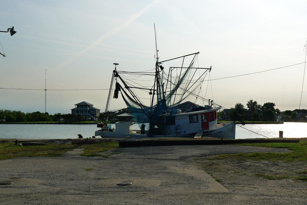 En räkbåt i Lafitte, i New Orleans floddelta.