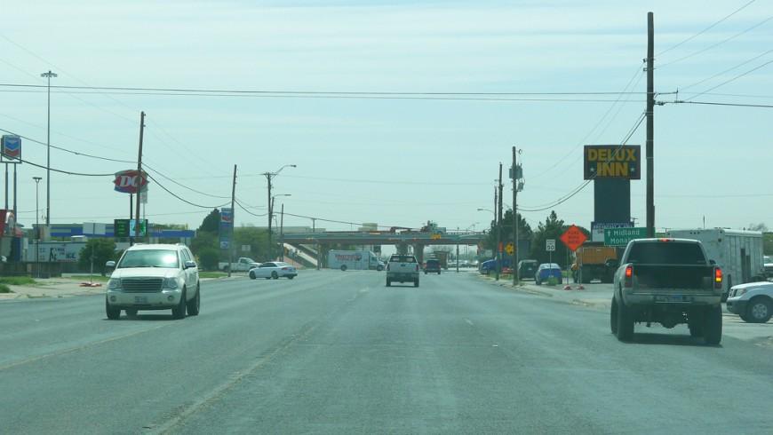 Vi lämnar Midland, på väg österut mot Houston.