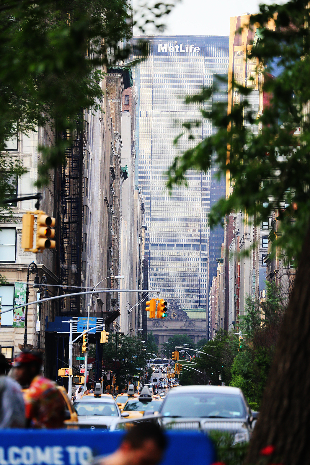 Park Avenue sedd söderifrån från Union Square.