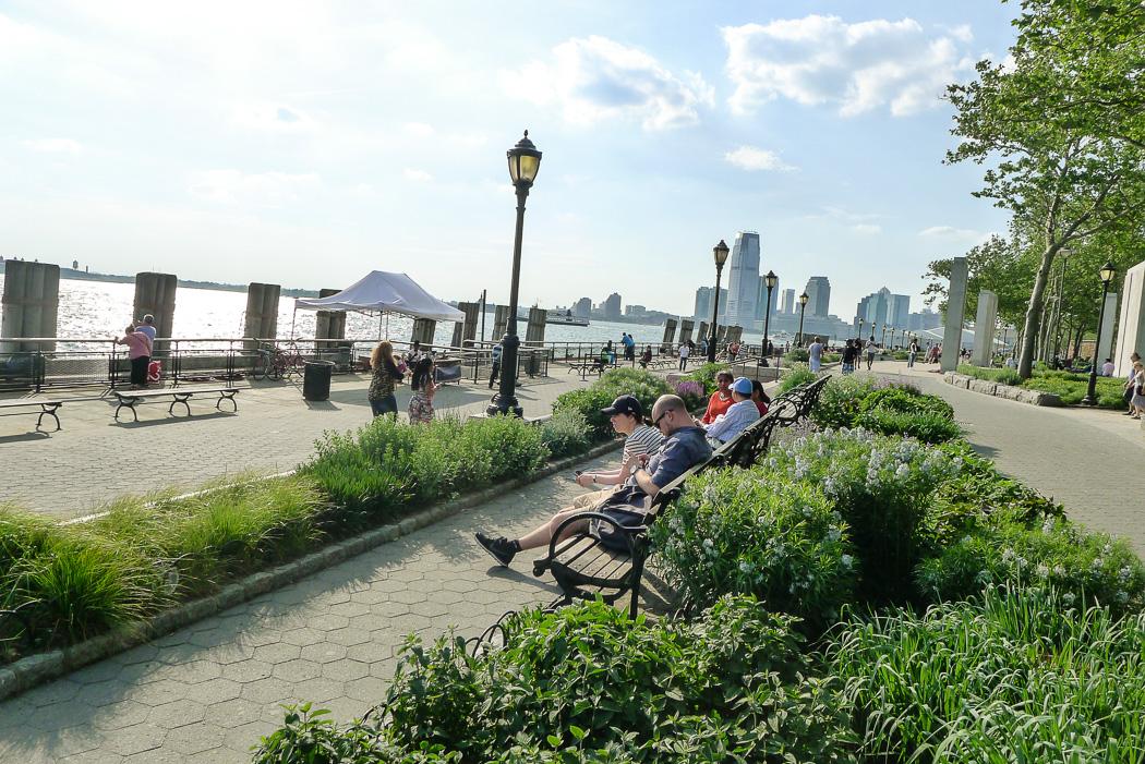 Hudson Riverpark, södra änden.