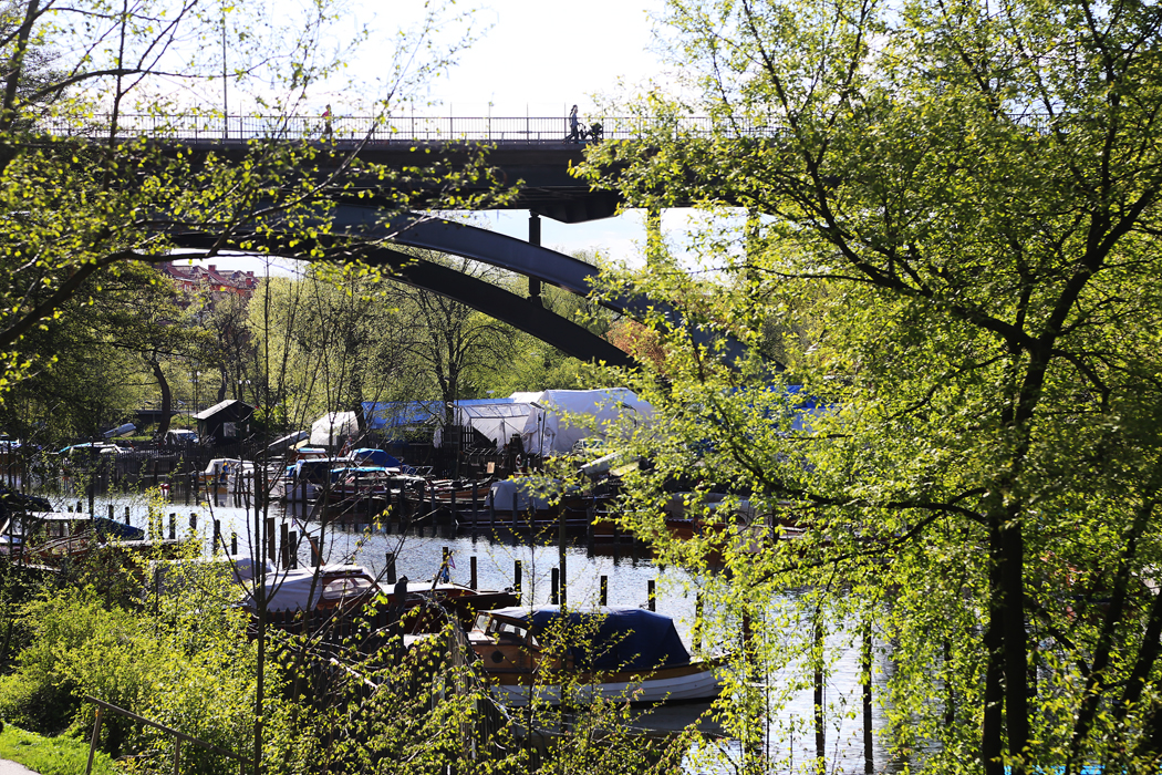 Kanalen mellan Söder och Långholmen.