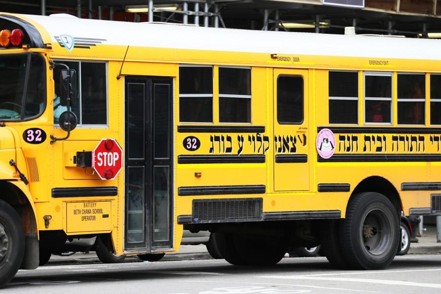 Judisk skolbuss.