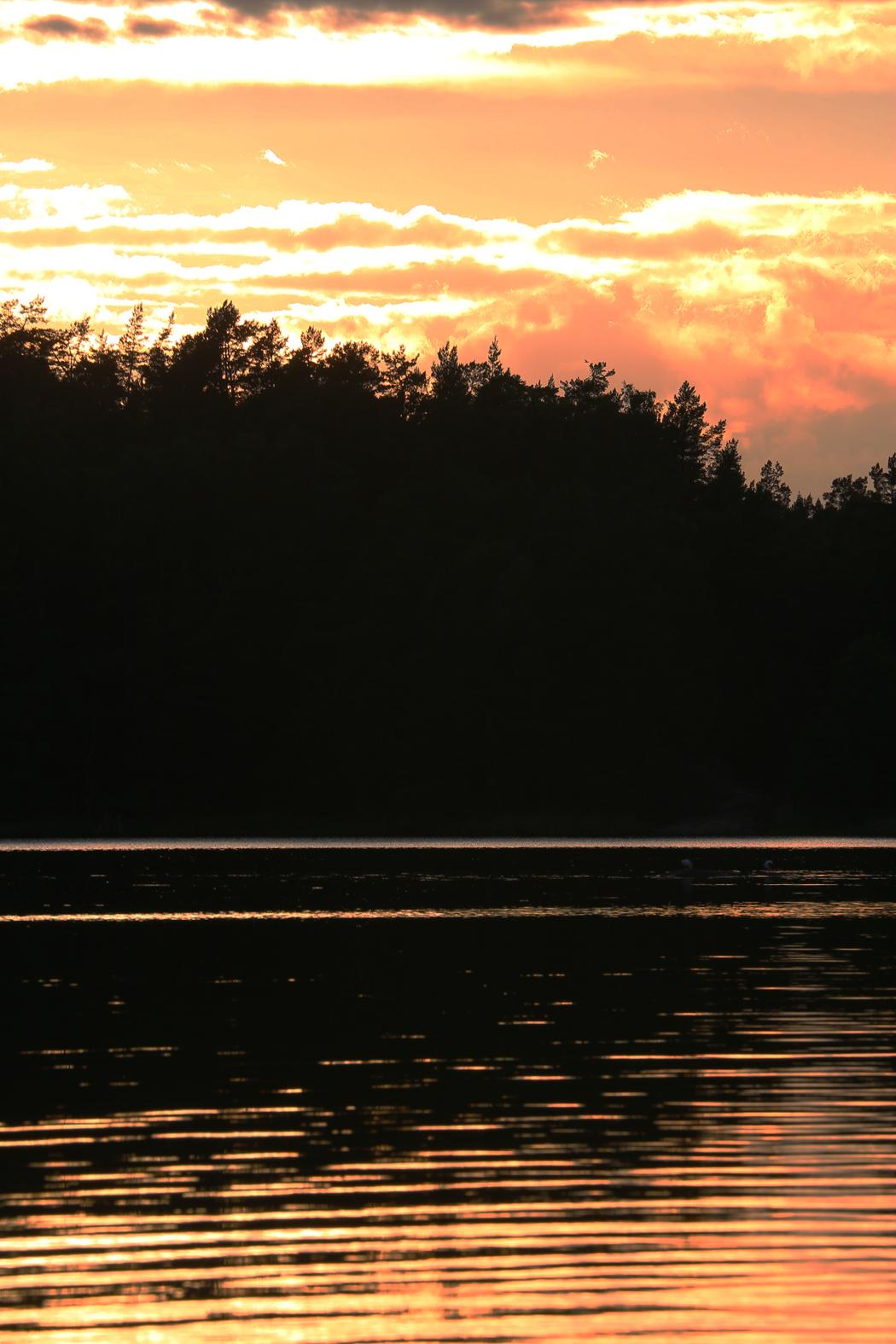 Kvällning vid Finnhamn.