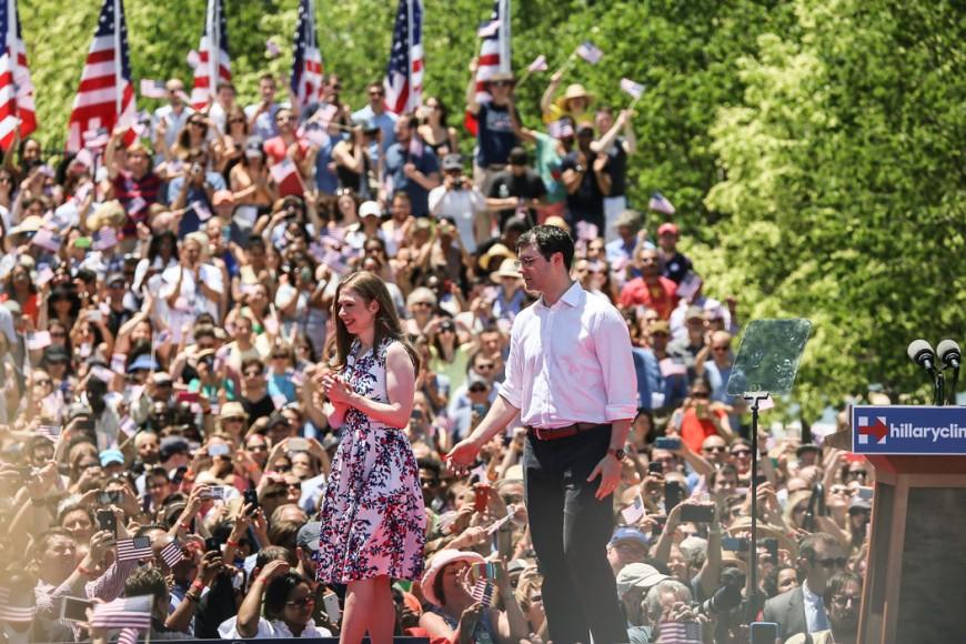 Familjen Clinton (Chelseas man Marc Mezvinsky i vit skjorta).
