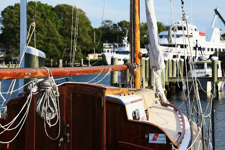 Segelbåt i Hyannis, Rhode Island.