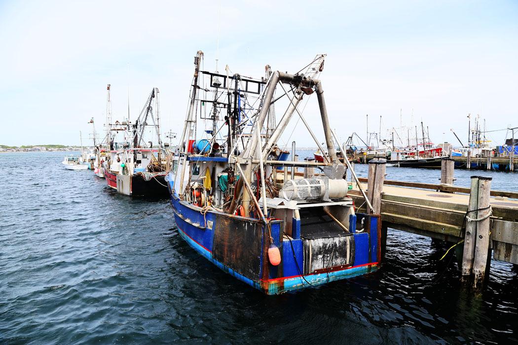 Fiskebåtar vid Provincetown, Cape Cod.